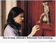 "O.k., GREAT! Where can I buy one of those? My paper ""No soliciting sign"" is wearing off."