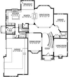 images of 2 story house plans with curved stairs | Berkshire ...