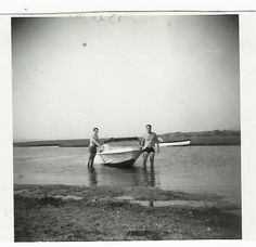 our first boat, tom and auther