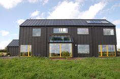 modern passive house black zinc clad construction