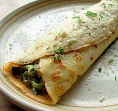 Out of my favorite book by Marie Simmons, Pancakes A to Z.  Her husband Johns recipe for a savory crepe filling.  Packed with lots of fresh ingredients and can be made ahead And heated just before serving, making these crepes a perfect dish for company or a quick evening meal.  Posted for Zaar World Tour 5.  Prep time is an estimate And does not include making homemade crepes.