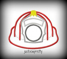 Fireman Hat Embroidery Applique Design by justsewpretty on Etsy, $4.00