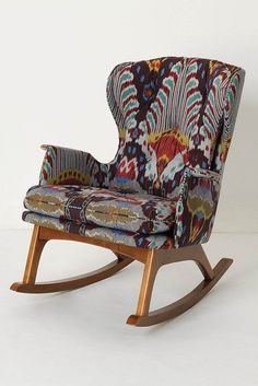 obsessed- this is my dream rocker. Dwellers Without Decorators: Anthropologie Furniture - Too Good Not to Share Unique Furniture, Home Furniture, Furniture Design, Nursery Furniture, Anthropologie Furniture, Console Design, Stylish Chairs, Take A Seat, Home And Deco