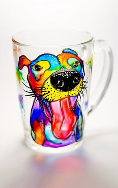 Dog Mug Custom Portrait Dog Mug Funny Coffee Cup Animal Coffee Mug Personalized Gift