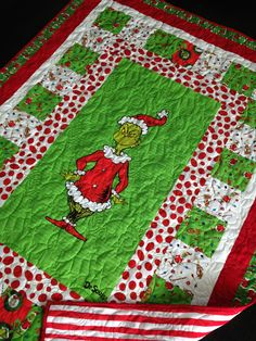 Christmas Grinch Quilt.