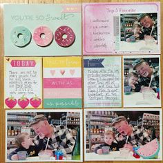 Painted Ladies Journal: Papa and Littlest Grandson Layout with Dear Lizzy #sheglossy #shecreates #pocketpages #projectlife