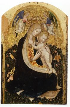 Madonna of the Quail Verona, about 1420 Artist: Pisanello Tempera and gold leaf on panel