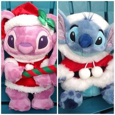 "BIG 12"" EURO DISNEY PARIS LILO AND STITCH GIRLFRIEND ANGEL SANTA CHRISTMAS PLUSH #Disney"