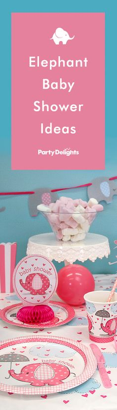 Throw an adorable elephant baby shower with our newest collection of baby shower ideas! Browse for elephant-themed decorations, free printable bunting and more.