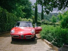 Beautiful red getaway car! Something to drive you to your new life as bride and wife! #TheTuscanWedding #Wedding #Car