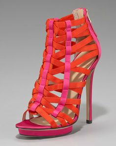 Pink and orange Brian Atwood heels.