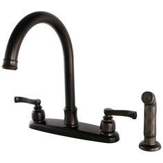 Kingston Brass FB7795FLSP Royale 8 Inch Centerset Kitchen Faucet, Oil  Rubbed Bronze   Price
