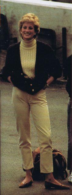 March 1995 Diana takes her boys to Twickenham to train with Wil Carling. (Date source Glenn Harvey)