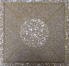 Bespoke terrazzo tile designed by Concord Terrazzo Company  www.terrazzco.com  #bespoke #tiles #terrazzo #floordesign #custom