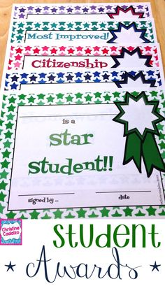 star student award template rewarding good behavior pinterest