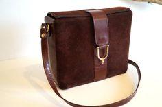 Genuine leather handbag SCHOULDER bag Brown bag by vintagdesign