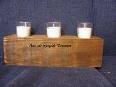 Reclaimed 4x4 candle holder