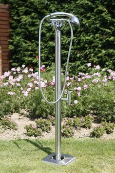 mit dieser schicken edelstahldusche von httpwwwwellness stockde - Outdoor Dusche Warmwasser