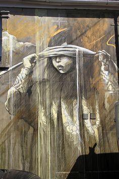 'An all seeing storm of momentary existence' Bristol Graffiti / Streetart - Painted at Upfest 2013 - Graffiti Artist: Faith47