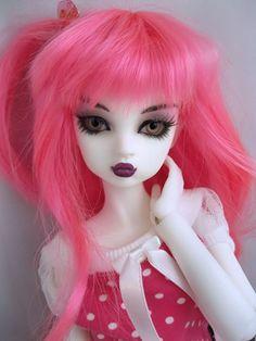 BJD doll Punky Pink Nabiya fairy by: gardenofdolls on Etsy  $310.00
