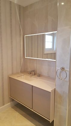 light pink small bathroom