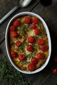 Roasted Fennel and Cherry Tomato Crumble Gratin