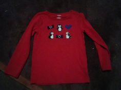 Gymboree Winter Penguin Red Long Sleeve Top Girls Size 4 Gymboree Red TOp  #Gymboree