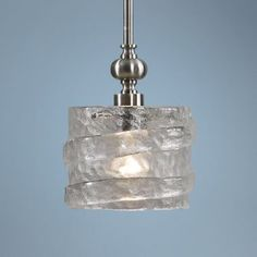 Mossa Seeded Glass Modern Mini Pendant Light - #EUT2893 - Euro Style Lighting