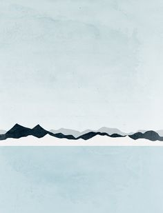 Minimalist Art Print Mountains Scandinavian Print by evesand