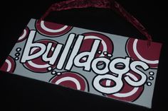 Mississippi State Bulldogs canvas board