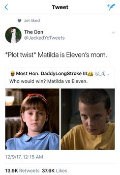 Matilda vs. Eleven? You know who'd win? CARRIE WHITE, THE OG TELEKINETIC GIRL