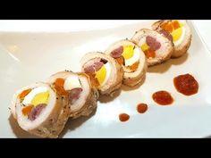Ruladă din piept de pui, morcov, cabanos și ou - Un deliciu culinar sănătos, ieftin și ușor de făcut - YouTube Sushi, Food And Drink, Cooking Recipes, Ethnic Recipes, Salads, Chef Recipes, Recipies, Sushi Rolls