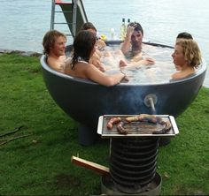 Dutchtub bbq ~ Oh my, I need this! Definitely in place of a fire pit in my small suburban yard.
