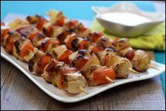 Kebab & Skewer Recipes! use onions, carrots, tofu, pineapple!