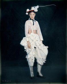 3522bed8 한복 Hanbok : Korean traditional clothes[dress]   #ModernHanbok   NEW KOREAN  FACES   Vogue.com #koreanclothes