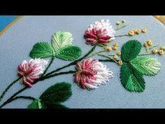 Brazilian Embroidery Pattern | Rose Embroidery: Embroidery Design by Hand - YouTube #brazilianembroidery