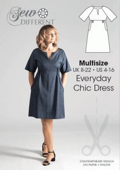 Dress pattern for women - made this in a couple of different fabrics - really easy and very flatterning
