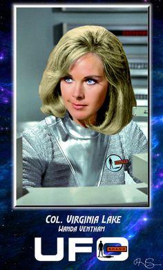 Wanda Ventham Spy Shows, Sci Fi Shows, Wanda Ventham, Ufo Tv Series, 1960s Hair, Fantasy Tv, Sci Fi Tv, Cosmic Girls, Female Actresses