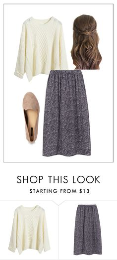 S w e a t e r  + F l o r al   S k i r t by apostolicgirl85 on Polyvore featuring WearAll and Forever 21