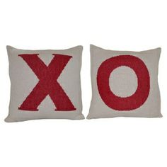 Saying how much you care is simple with these festive Love Day throw pillows!