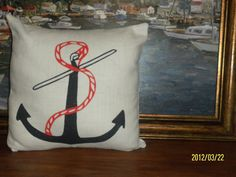 Nautical Decorative Accent Handpainted Anchor by TreasuresShop