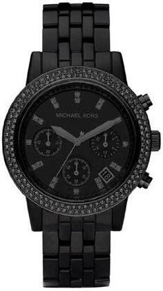 Michael Kors Blackout Chronograph Ladies Watch MK5527...proud owner!