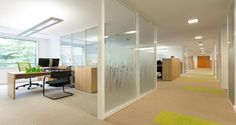Individual office and circulation into the premises of Merisant in Paris, France