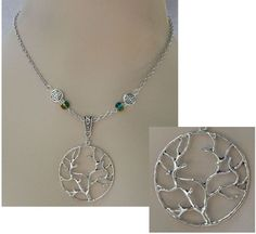 Silver Celtic Tree of Life Pendant Necklace Jewelry Handmade NEW Adjustable #handmade