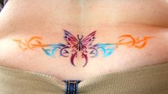 177a501d5 Tramp Stamp Tattoo | Butterfly Tattoos On Girl Sleeve Vine Floral Tattoo  Ankle Tribal Butterfly,