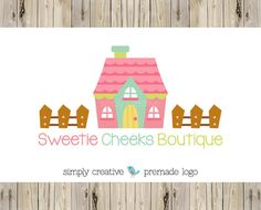 Logo Design  Cottage Doll House Logo Design  by simplycreativeshop