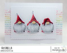 Faye Wynn-Jones: Stamping Bella Gnomes Have Feelings Too Christmas Gnome, Christmas Paper, Christmas Crafts, Scandinavian Gnomes, Christmas Paintings, Watercolor Cards, Xmas Cards, Christmas Inspiration, Card Making