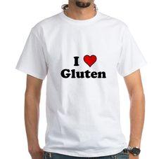 I Heart Gluten #love #heart #gluten #funny #humor #geek #shirt
