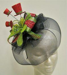 Christmas Fascinator Hat. $28.00, via Etsy.