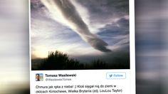 Chmura jak ręka z nieba
